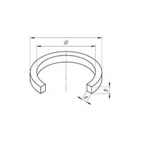 Кольцо уплотнительное прямоугольного сечения 31-37-3